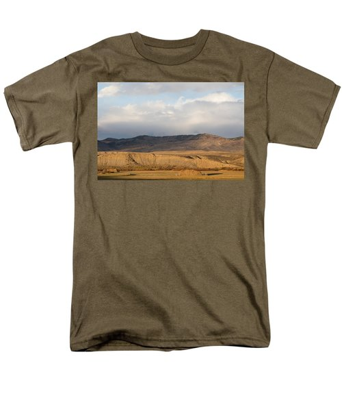 Men's T-Shirt  (Regular Fit) featuring the photograph Mountain Meadow And Hay Bales In Grand County by Carol M Highsmith