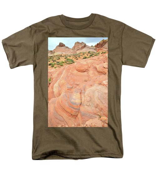 Men's T-Shirt  (Regular Fit) featuring the photograph Multicolored Wave In Valley Of Fire by Ray Mathis