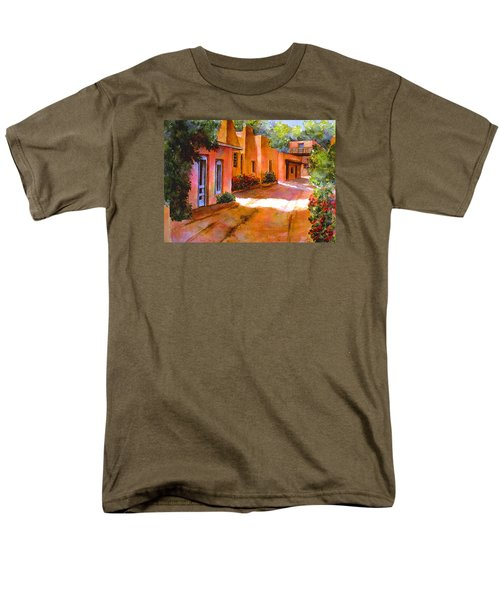 Men's T-Shirt  (Regular Fit) featuring the painting Near Canyon Road by Ann Peck