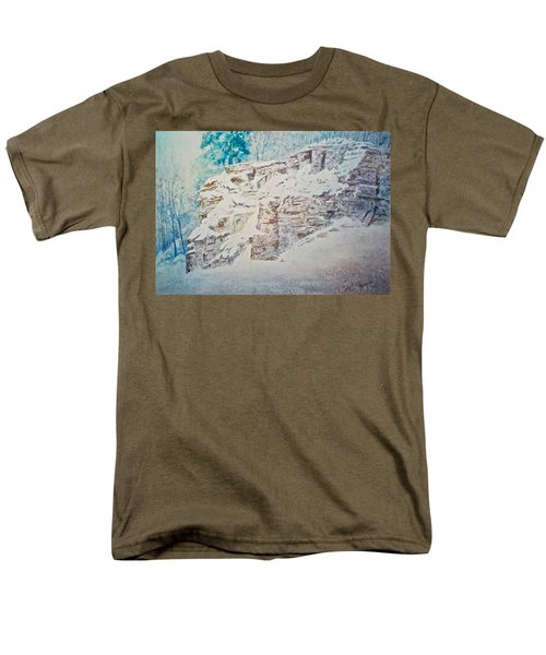 Men's T-Shirt  (Regular Fit) featuring the painting Oakfield Ridge by Carolyn Rosenberger