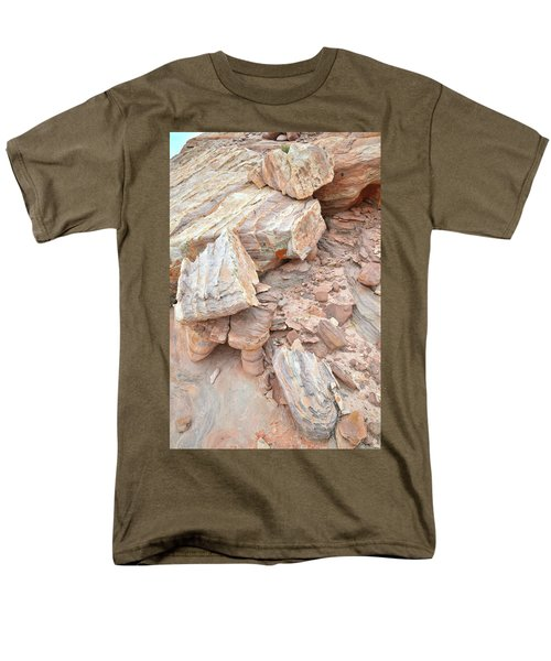 Men's T-Shirt  (Regular Fit) featuring the photograph Ornate Sandstone In Valley Of Fire by Ray Mathis