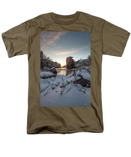 Men's T-Shirt  (Regular Fit) featuring the photograph  Palisades First Snow by Aaron J Groen