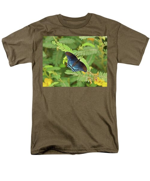 Men's T-Shirt  (Regular Fit) featuring the photograph Red Spotted Purple Butterfly by Sandy Keeton