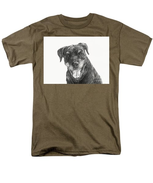 Men's T-Shirt  (Regular Fit) featuring the drawing Ruby  by Meagan  Visser
