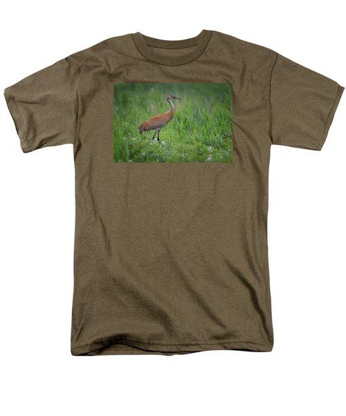 Sandhill Crane Men's T-Shirt  (Regular Fit) by Gary Hall