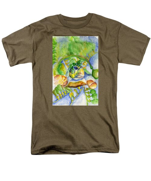 Men's T-Shirt  (Regular Fit) featuring the painting Sea Turtle Hideaway by Tamyra Crossley
