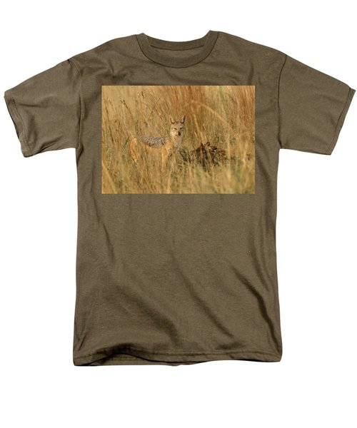 Silver Backed Jackal Men's T-Shirt  (Regular Fit) by Patrick Kain