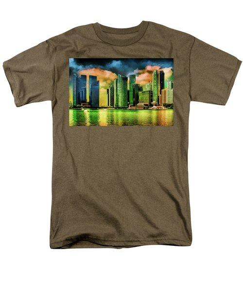 Singapore Skyline Men's T-Shirt  (Regular Fit) by Joseph Hollingsworth