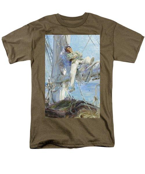 Sleeping Sailor Men's T-Shirt  (Regular Fit) by Henry Scott Tuke