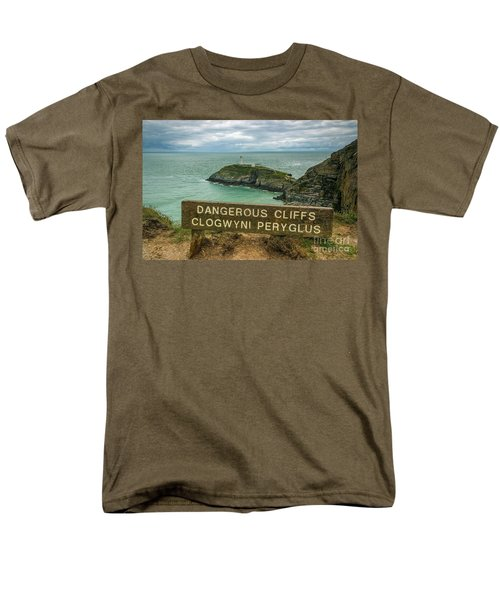 South Stack Lighthouse Men's T-Shirt  (Regular Fit) by Ian Mitchell