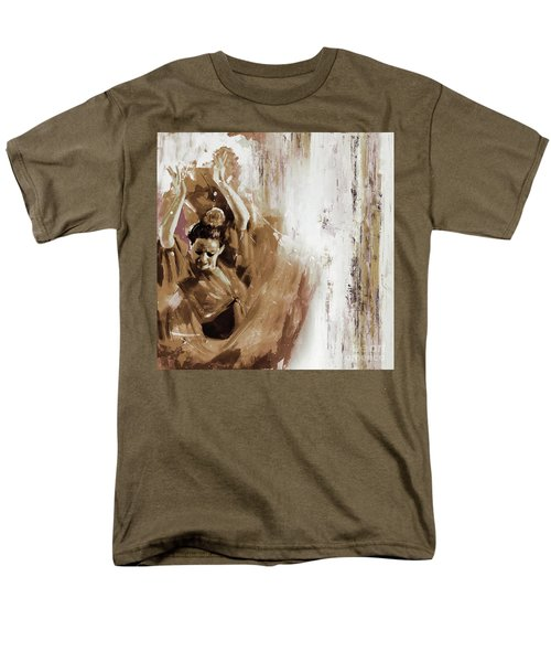 Men's T-Shirt  (Regular Fit) featuring the painting Spanish Woman Dance  by Gull G