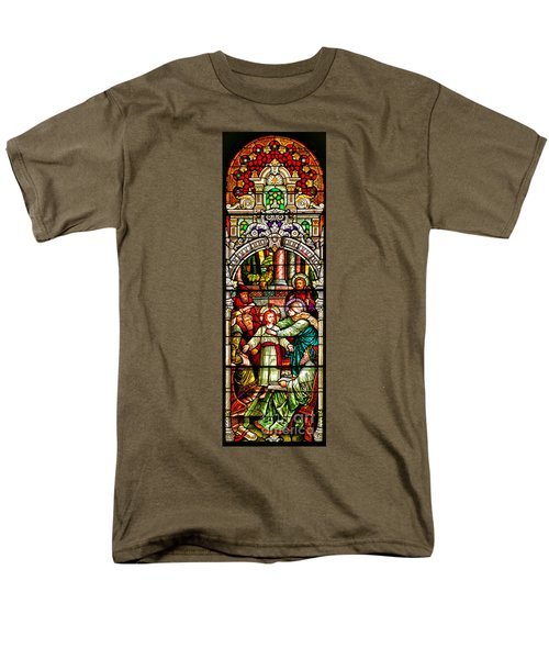 Men's T-Shirt  (Regular Fit) featuring the photograph Stained Glass Scene 3 Crop by Adam Jewell