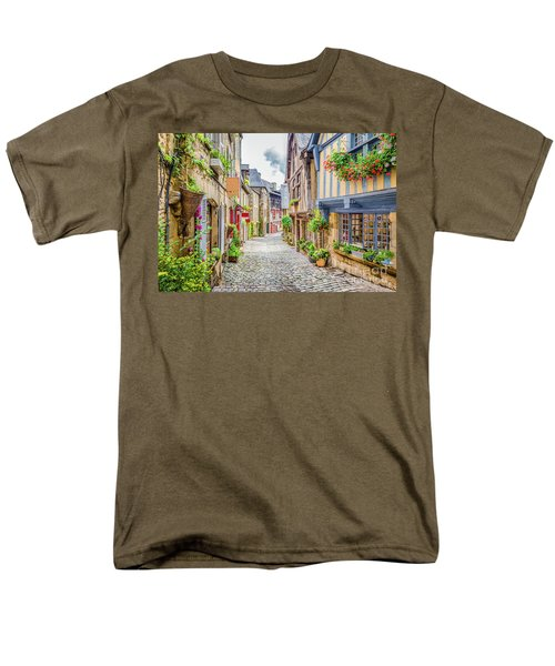 Streets Of Dinan Men's T-Shirt  (Regular Fit) by JR Photography