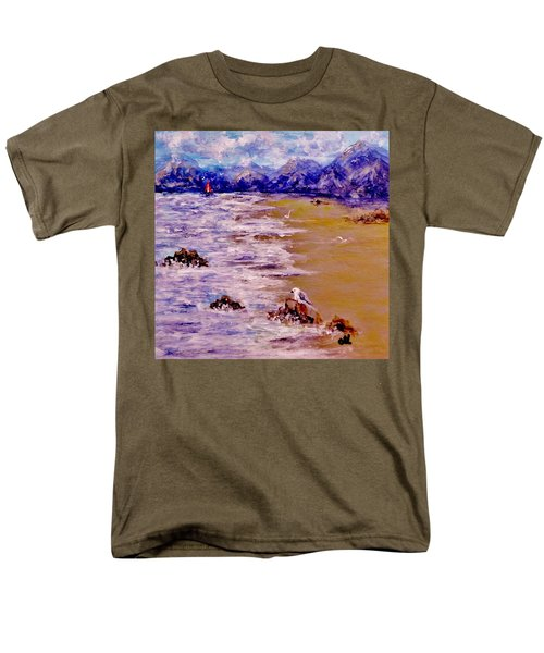 Men's T-Shirt  (Regular Fit) featuring the painting Summer Whispers.. by Cristina Mihailescu