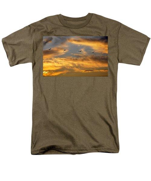 Sunset Flight Men's T-Shirt  (Regular Fit) by AJ Schibig