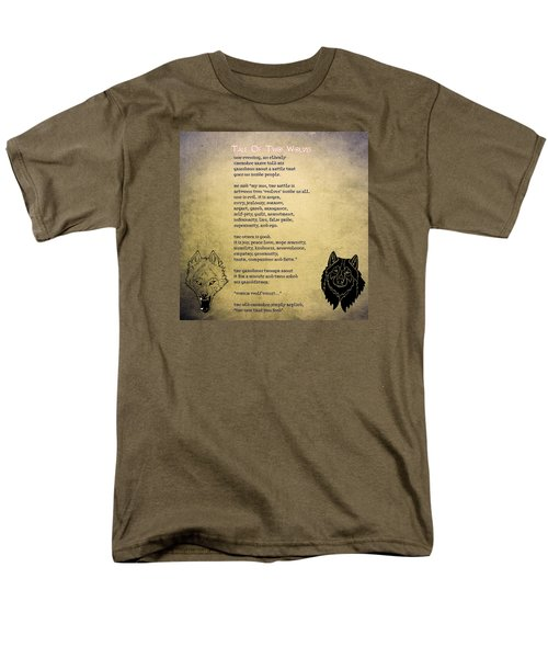 Tale Of Two Wolves - Art Of Stories Men's T-Shirt  (Regular Fit) by Celestial Images