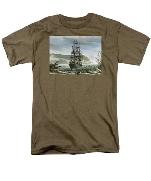 Men's T-Shirt  (Regular Fit) featuring the painting Tall Ship Cove by James Williamson