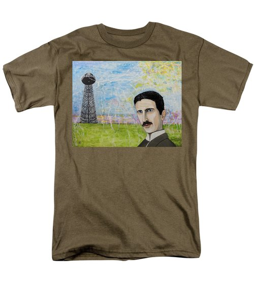 Tesla's Tower. Men's T-Shirt  (Regular Fit) by Ken Zabel