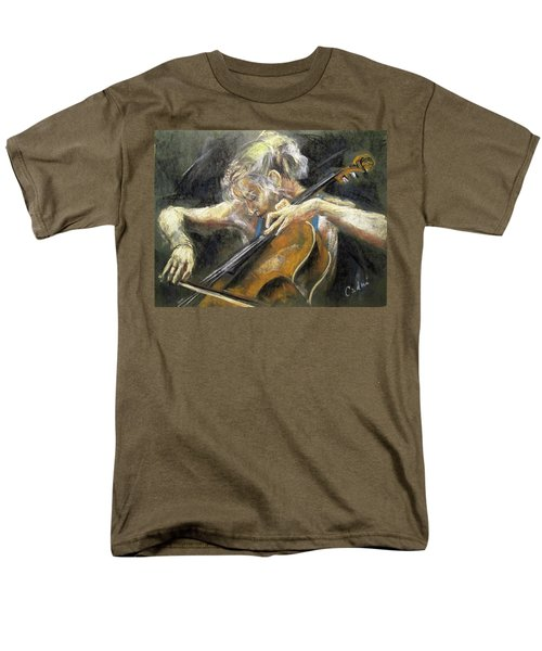 Men's T-Shirt  (Regular Fit) featuring the painting The Cellist by Debora Cardaci
