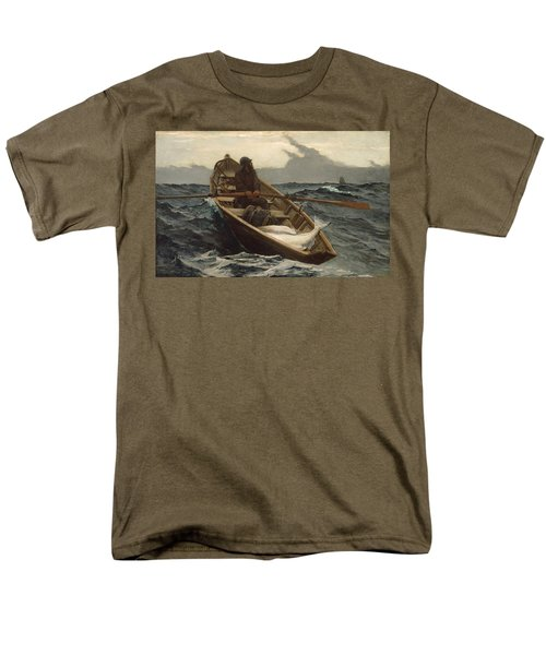 Men's T-Shirt  (Regular Fit) featuring the painting The Fog Warning - 1885 by Winslow Homer