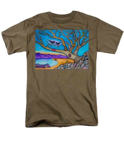 Men's T-Shirt  (Regular Fit) featuring the painting The Kiss And Love Is All There Is by Lori Miller