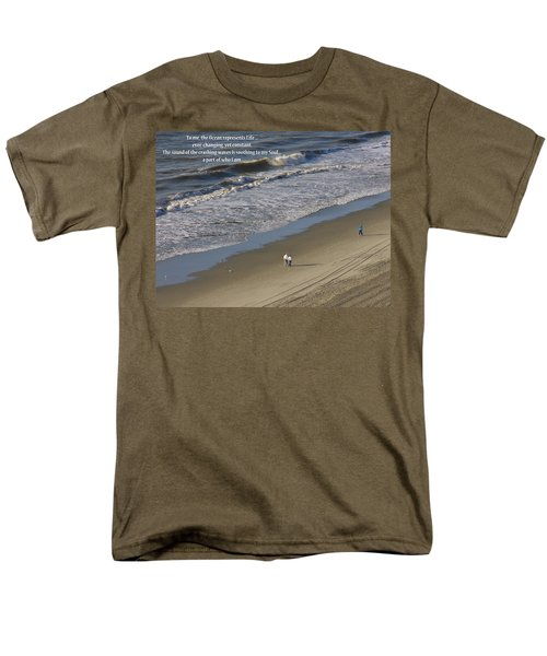 Men's T-Shirt  (Regular Fit) featuring the photograph The Ocean by Rhonda McDougall