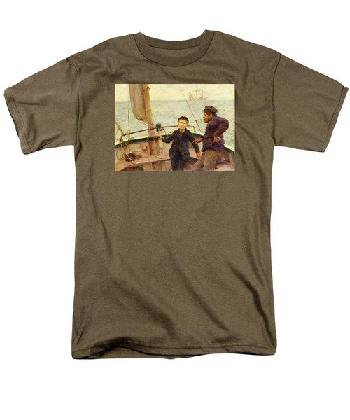 The Steering Lesson Men's T-Shirt  (Regular Fit) by Henry Scott Tuke