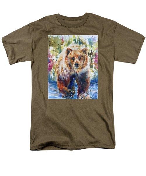 Men's T-Shirt  (Regular Fit) featuring the painting The Summer Bear by P Maure Bausch
