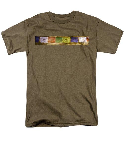 Tibetan Prayer Flags Men's T-Shirt  (Regular Fit) by Peter v Quenter