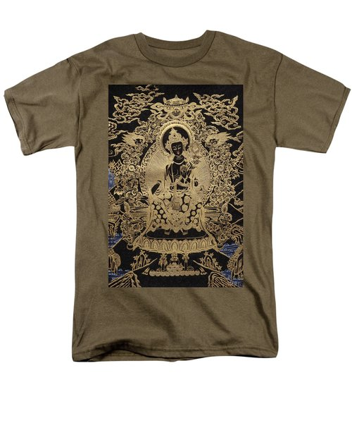 Tibetan Thangka  - Maitreya Buddha Men's T-Shirt  (Regular Fit) by Serge Averbukh