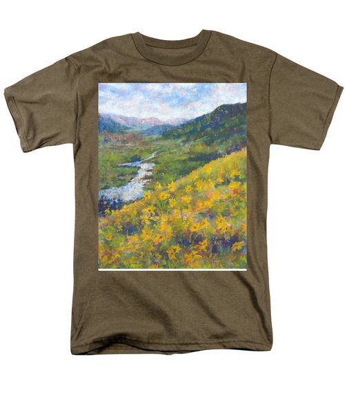 View From Baxters Gulch Men's T-Shirt  (Regular Fit) by Becky Chappell