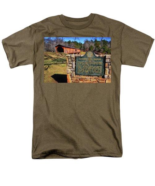 Watson Mill Covered Bridge 010 Men's T-Shirt  (Regular Fit) by George Bostian