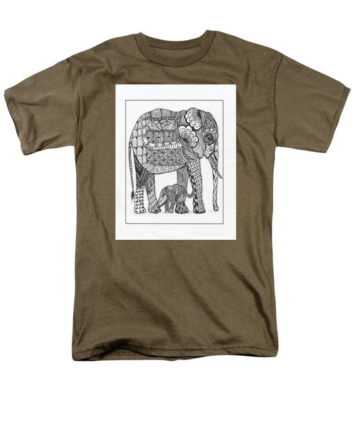 White Elephant And Baby Men's T-Shirt  (Regular Fit) by Kathy Sheeran