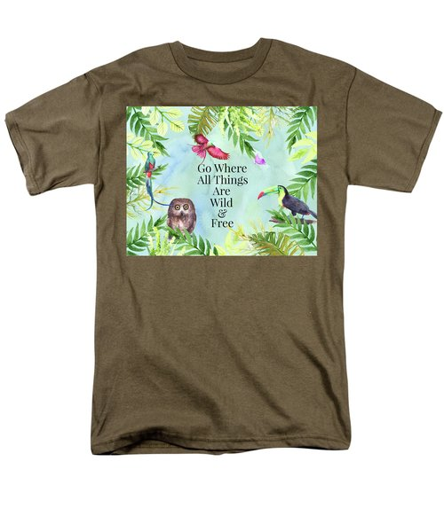 Men's T-Shirt  (Regular Fit) featuring the digital art Wild And Free by Colleen Taylor