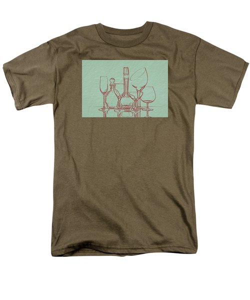Wine Decanters With Glasses Men's T-Shirt  (Regular Fit) by Tom Mc Nemar