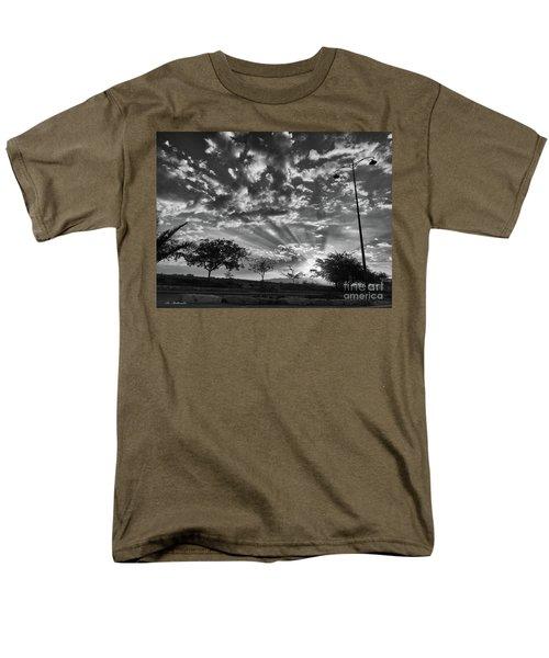 Winter Sunset Men's T-Shirt  (Regular Fit) by Arik Baltinester