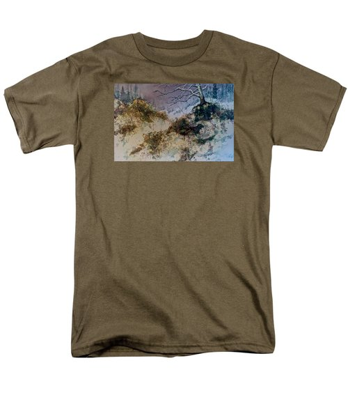 Men's T-Shirt  (Regular Fit) featuring the painting Winter's Morn by Carolyn Rosenberger