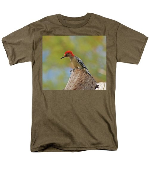 Men's T-Shirt  (Regular Fit) featuring the digital art 1- Woodpecker by Joseph Keane