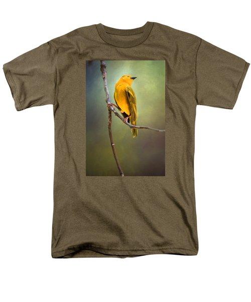 Yellow Bird Men's T-Shirt  (Regular Fit) by David and Carol Kelly