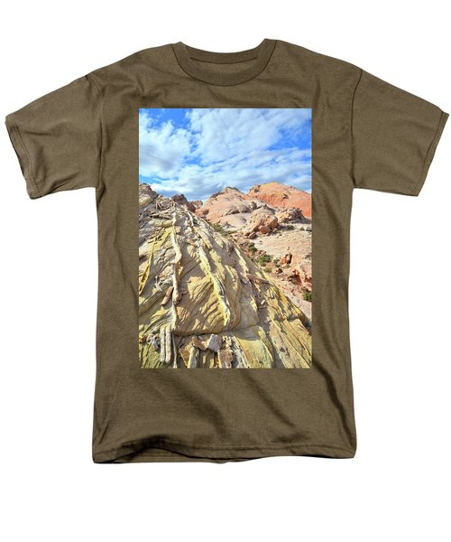 Yellow Brick Road In Valley Of Fire Men's T-Shirt  (Regular Fit) by Ray Mathis
