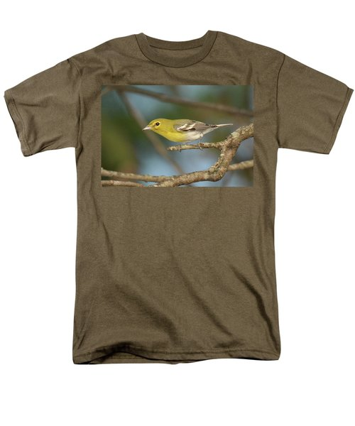 Yellow-throated Vireo Men's T-Shirt  (Regular Fit) by Alan Lenk