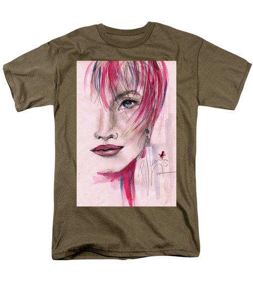 Men's T-Shirt  (Regular Fit) featuring the painting Zelda by P J Lewis