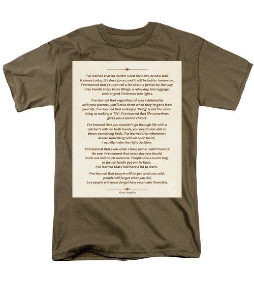 101-  Maya Angelou Men's T-Shirt  (Regular Fit) by Joseph Keane