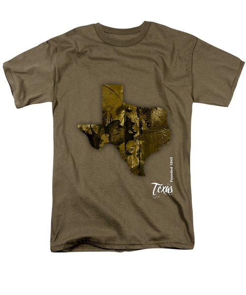 Texas State Map Collection Men's T-Shirt  (Regular Fit) by Marvin Blaine