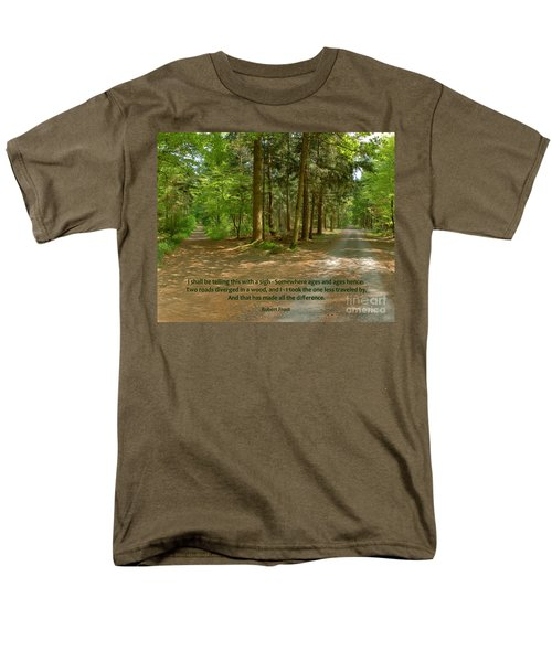 12- The Road Not Taken Men's T-Shirt  (Regular Fit) by Joseph Keane