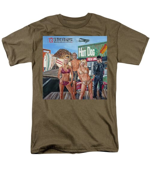 Men's T-Shirt  (Regular Fit) featuring the painting 13 Stories by Bryan Bustard