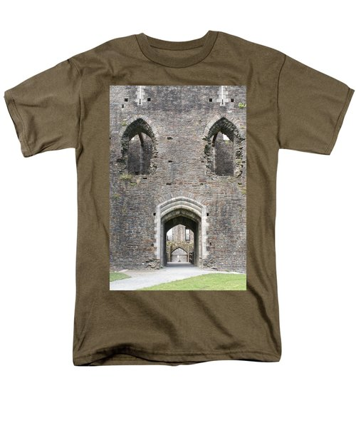 Caerphilly Castle Men's T-Shirt  (Regular Fit) by Carol Ailles