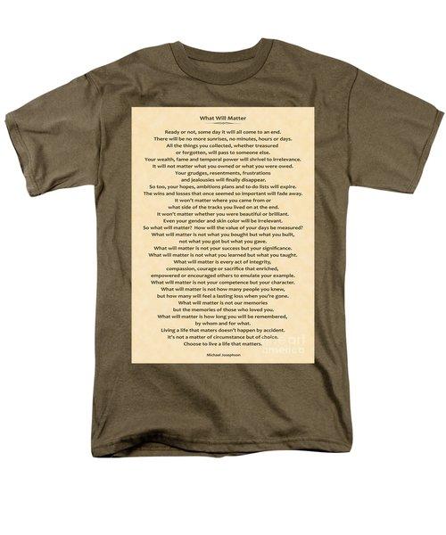 161- What Will Matter Men's T-Shirt  (Regular Fit) by Joseph Keane