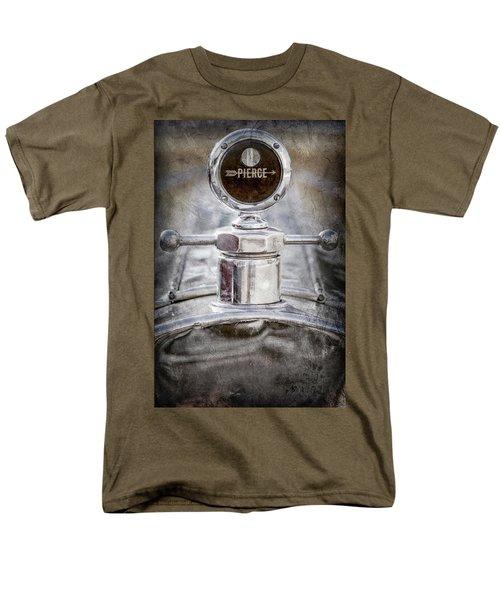 Men's T-Shirt  (Regular Fit) featuring the photograph 1920 Pierce-arrow Model 48 Coupe Hood Ornament -2829ac by Jill Reger