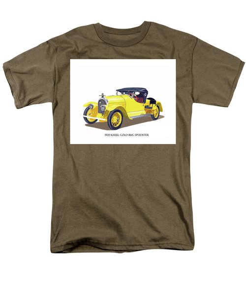 Men's T-Shirt  (Regular Fit) featuring the painting 1923 Kissel Kar  Gold Bug Speedster by Jack Pumphrey